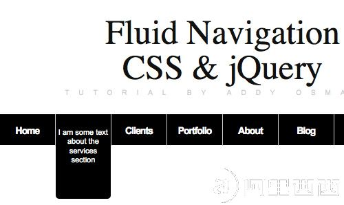 Fluid  Navigation �C How to create an informative menu-bar with jQuery &  CSS