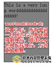 word-break